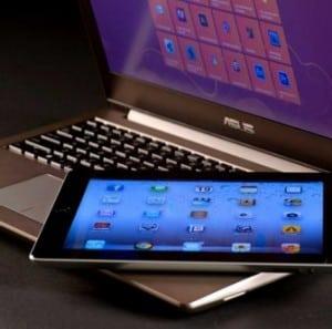 Tablet εναντίον laptop